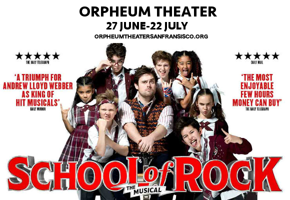 school of rock broadway orpheum theater tickets