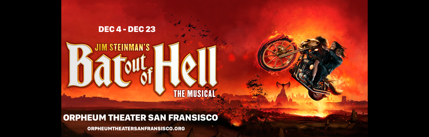 bat out of hell Orpheum Theatre san francisco