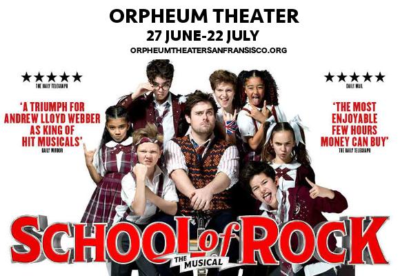 school of rock broadway orpheum theater tickets