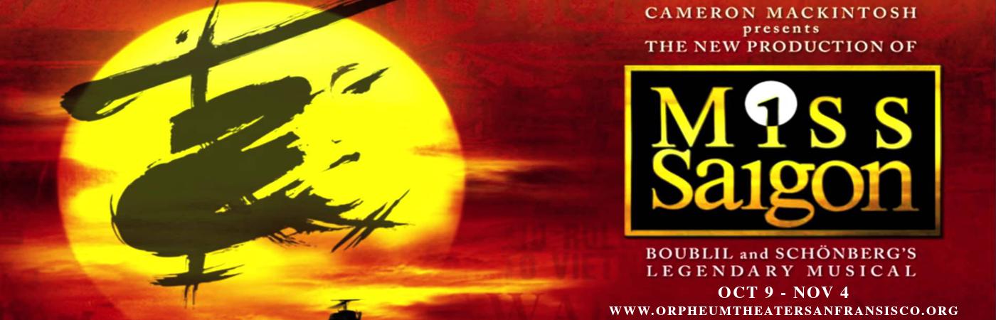 miss saigon orpheum theatre tickets